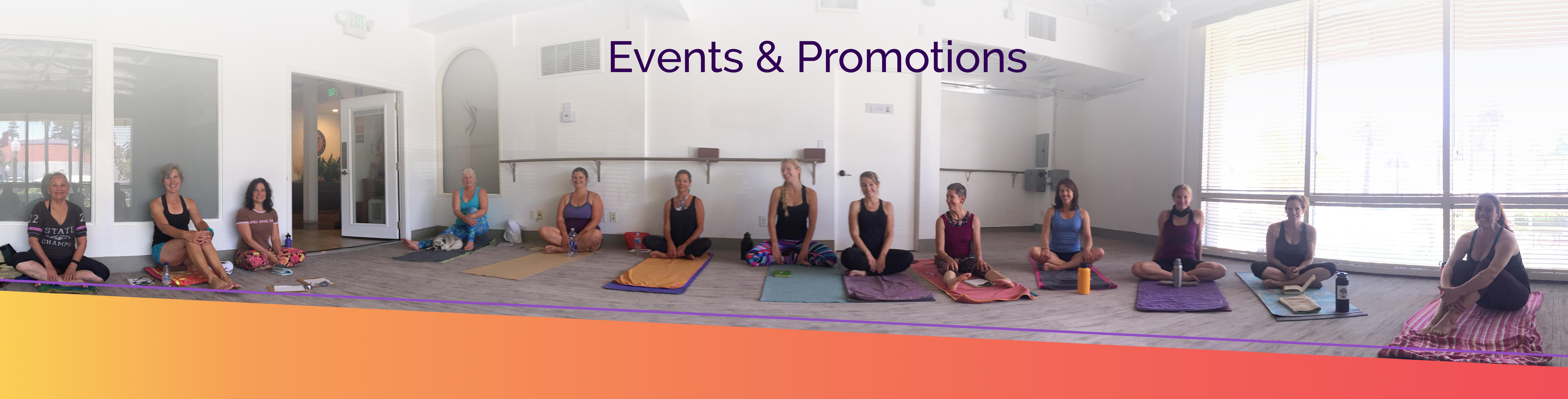 hot + soul yoga events